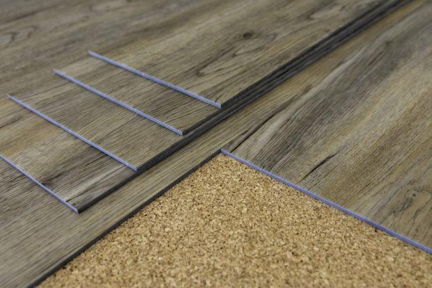 vinylkorková podlaha