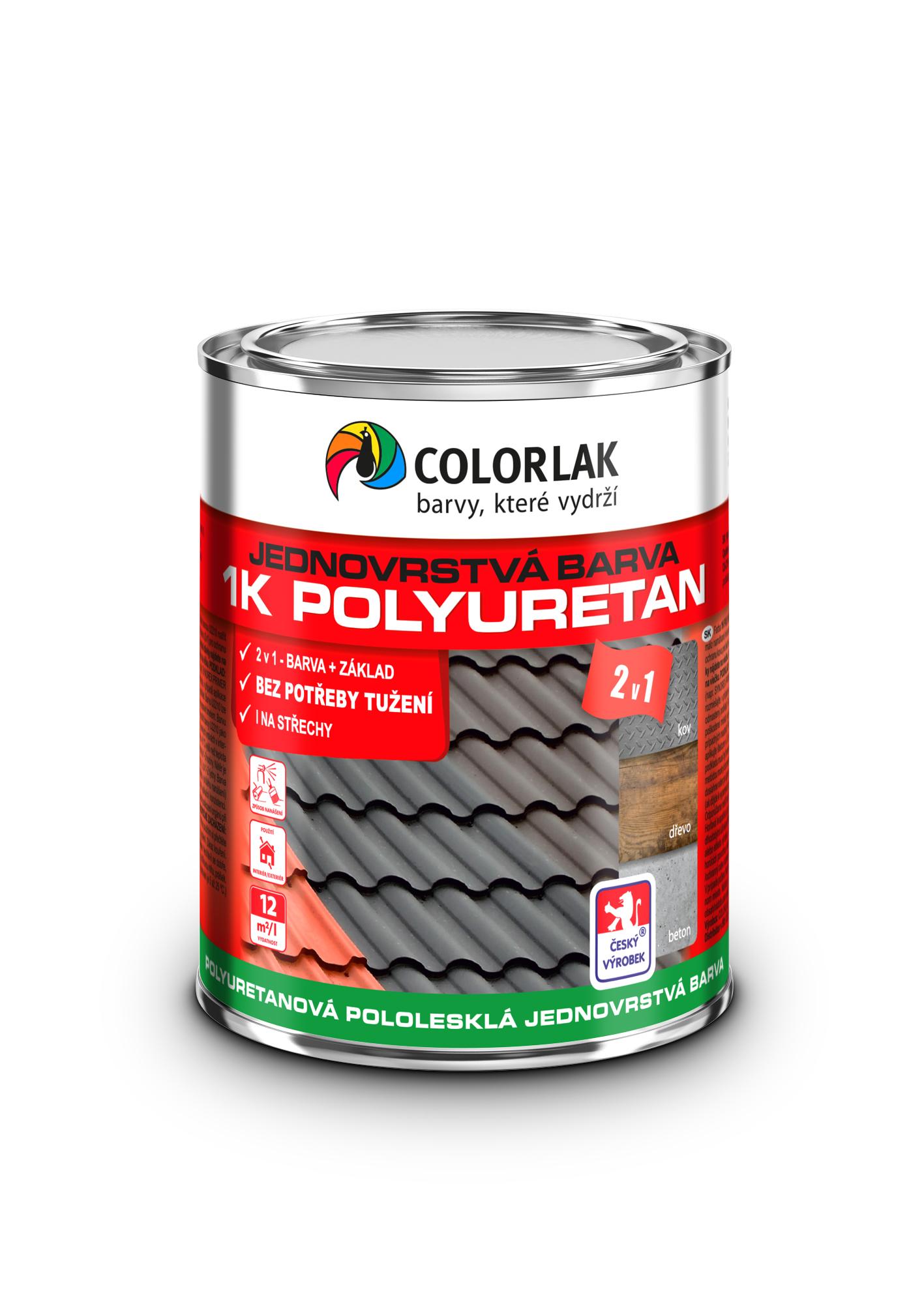 polyuretanová jednovrstvá barva plechovka