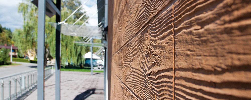 Jak na to: Fasádní omítka se strukturou dřeva