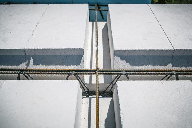 Propojovací výztuž - Pórobetonový montovaný strop