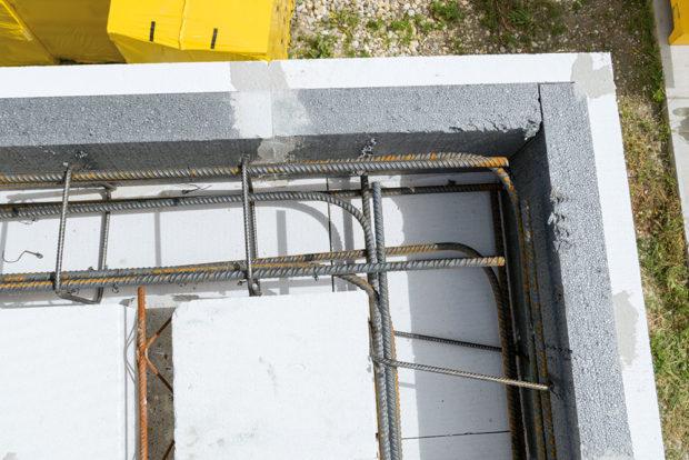 Výztuž věnců - Pórobetonový montovaný strop