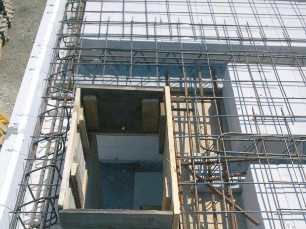 Doplňkové vyztužení - Pórobetonový montovaný strop