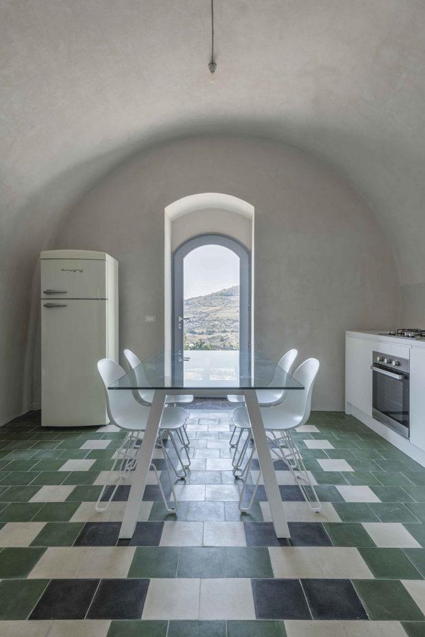 kuchyň v historickém domě