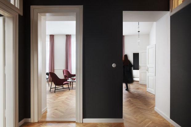 Interiér apartmánů na Kafkově náměstí