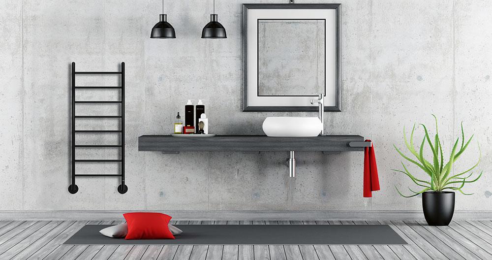 sivá koupelna
