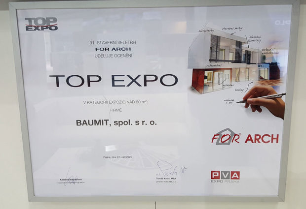 Ocenění vsoutěži TOP EXPO