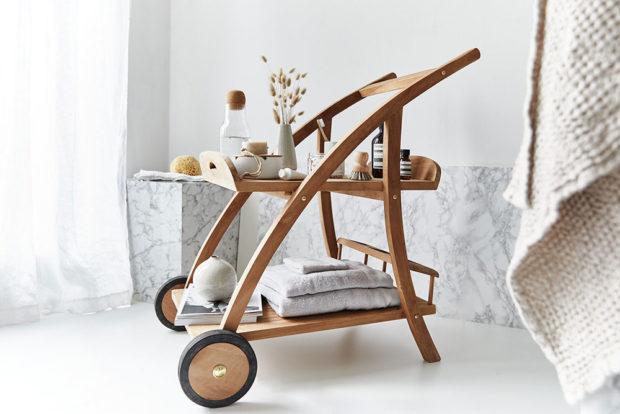 stylový vozík do koupelny