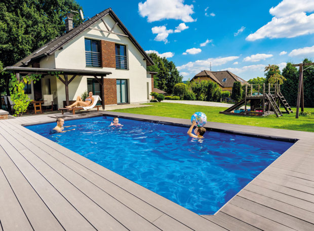 Sklokompozitní bazén