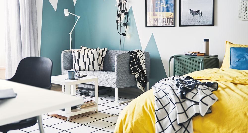 obývací pokoj zelená