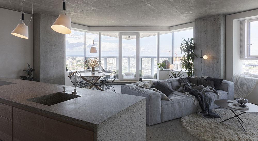 """""""Drsný"""" byt s panoramatickým výhledem na město"""