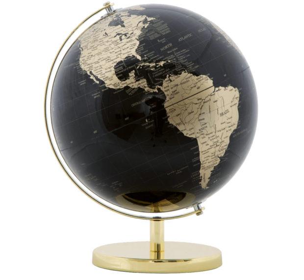 Dekorace ve tvaru globusu