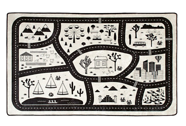 Černobílý koberec