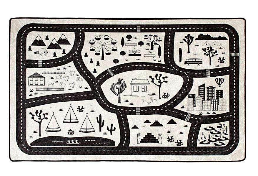 Černobílý koberec Black City, 100 × 160 cm, 809 Kč, bonami.cz