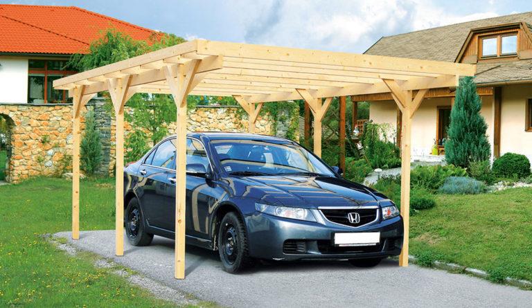 Dřevěný přístřešek pro auto aneb ochrana pro váš vůz nejen před nepřízní počasí