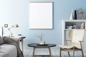 obývací pokoj modrá