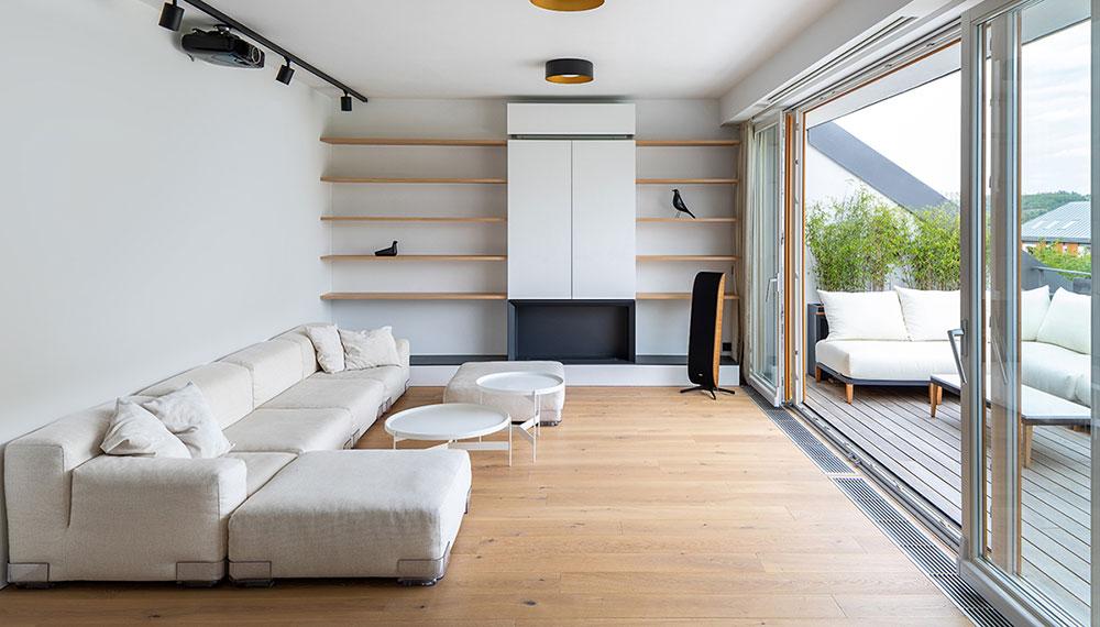 Přeměna bytu v podkroví na klidný a kultivovaný prostor
