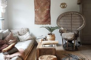 obývací pokoj a taburet
