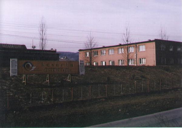 Pohled na bývalý závod Koventa