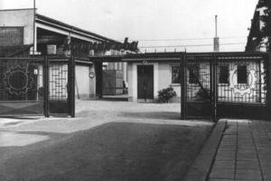 Pohled na vstup do bývalého podniku Koventa