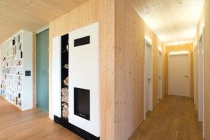 Interiér drevostavby
