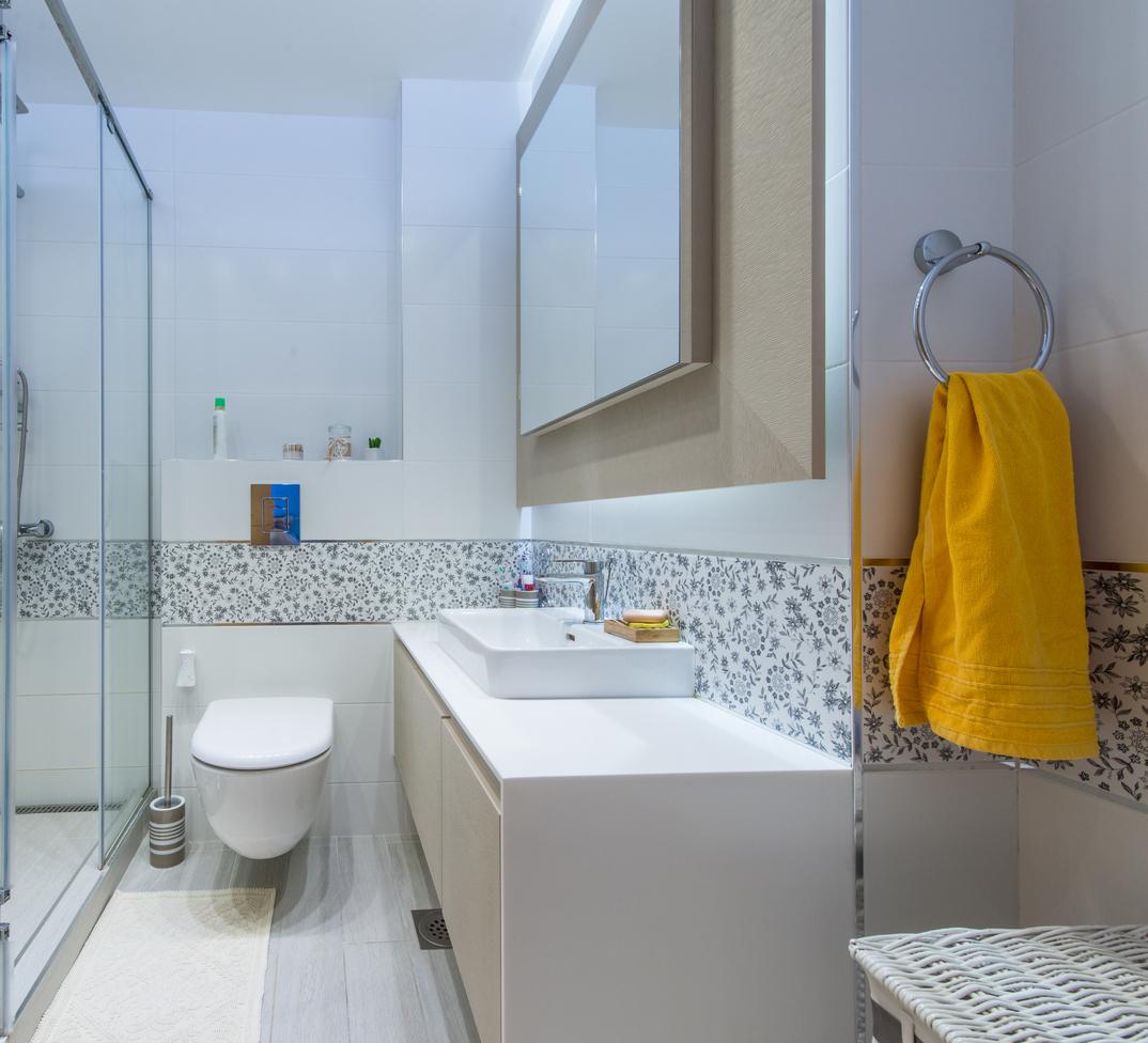 Sprchový kout v zajímavém prostoru
