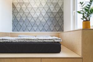 Ložnice s úložným prostorem