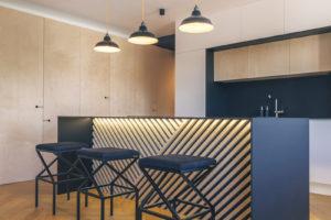 Kuchyňský ostrůvek v otevřeném prostoru