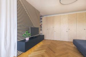 Obývací pokoj, vevstavěná skříň