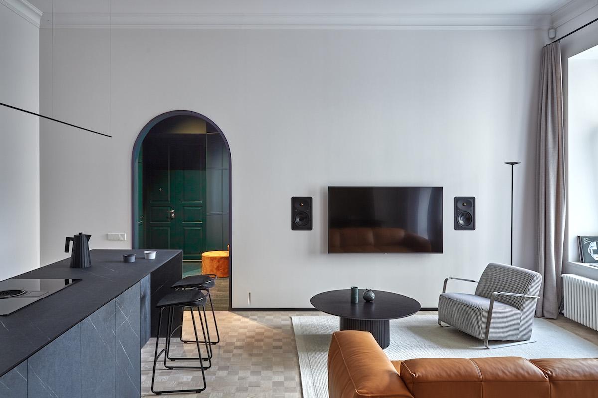 Obývací pokoj v eklektickém stylu