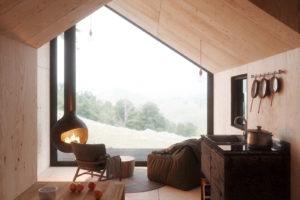 Pohled do interiéru chatky
