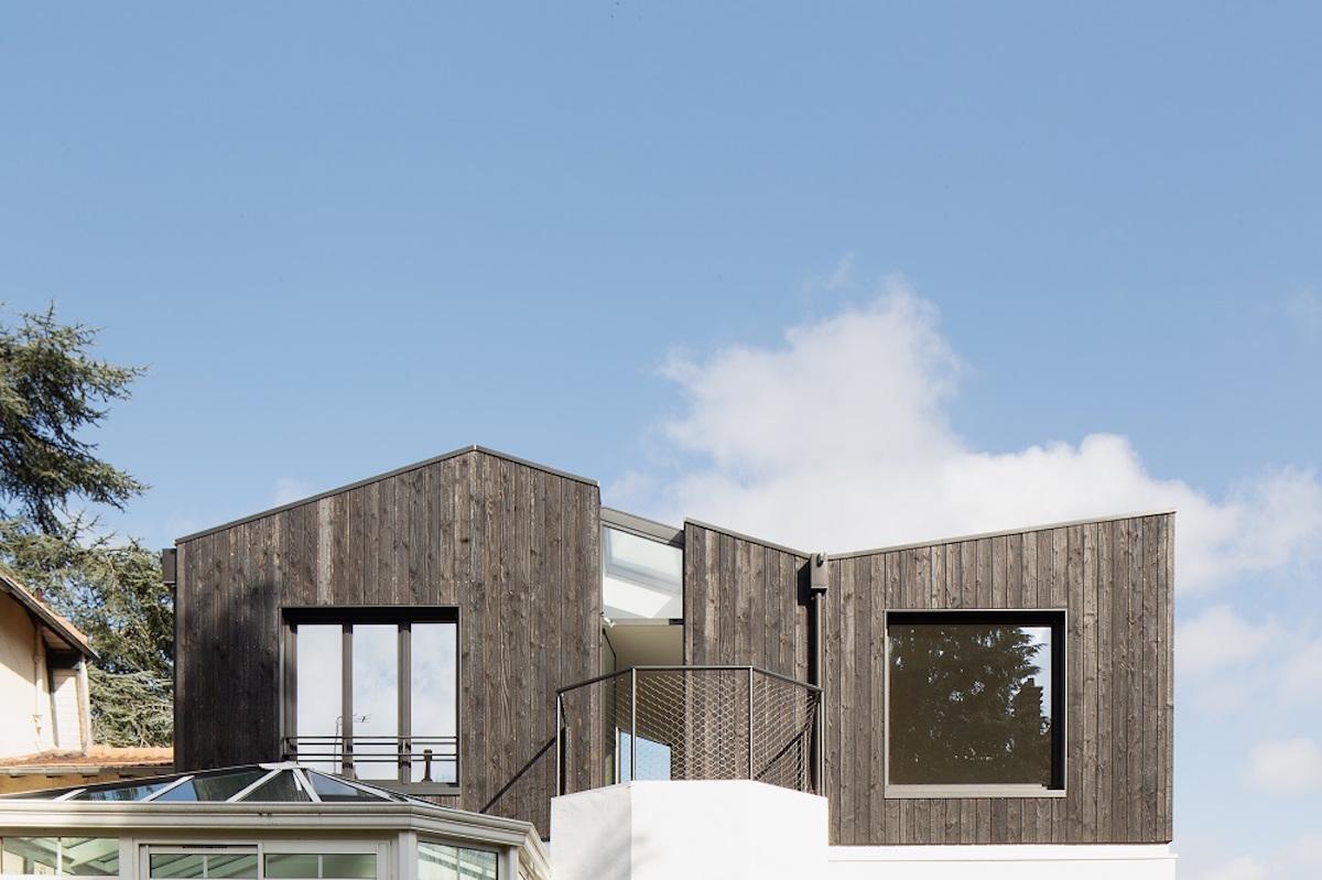 Moderní nadstavba střecha