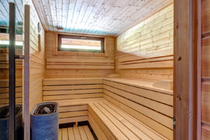 Součástí domu je i finská sauna