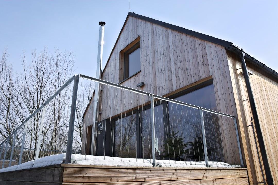 obklad fasády dřevostavby