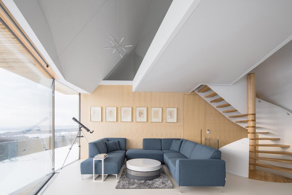 Obývací pokoj v prvním nadzemním podlaží