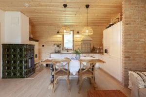 Nová pec a kuchyň s linkou