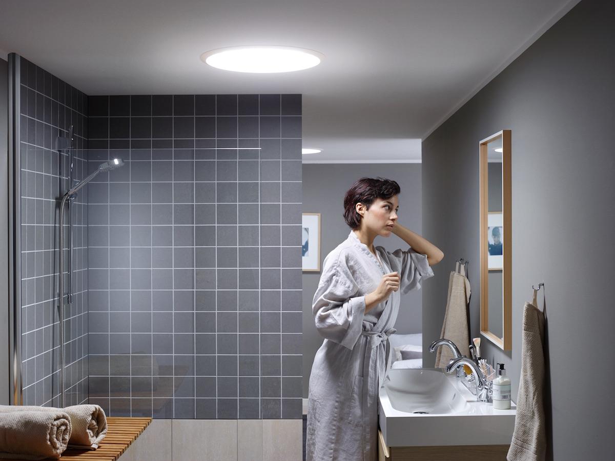 Světlovod VELUX v koupelně
