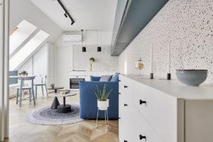 Jednopokojový podkrovní byt
