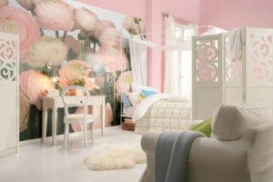 Fototapeta růžové květy