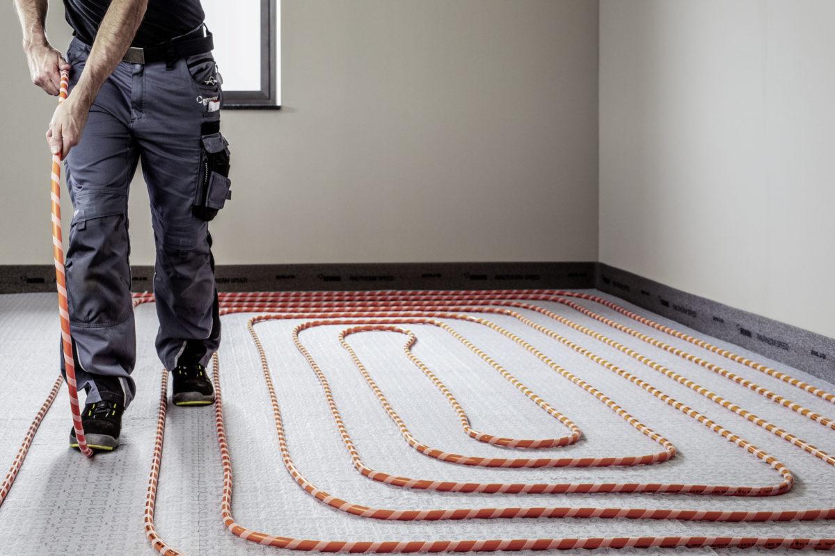 Podlahové vytápění v procesu
