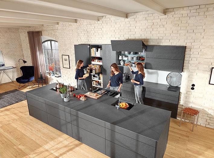 Kuchyň s velkým ostrůvkem
