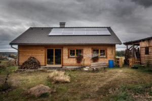 Dřevostavba s panely