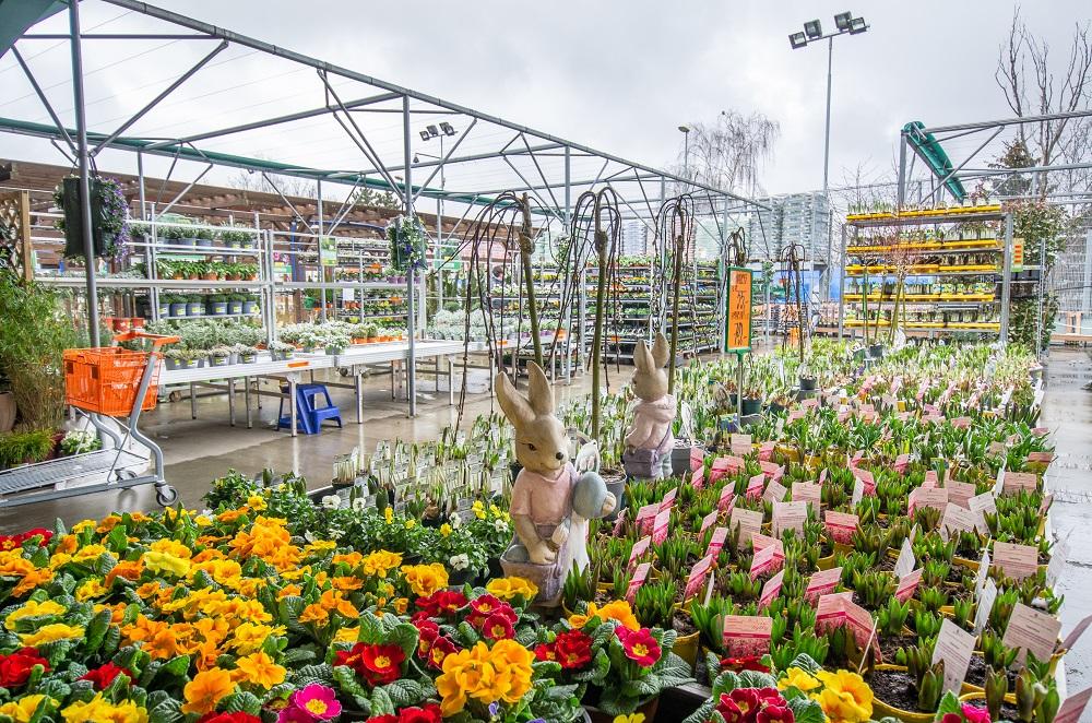 Hornbach zahrady otevřeny