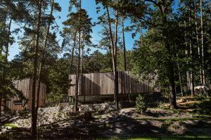 Rodinný dům skrytý v lese