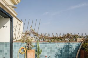 Jižní terasa smalým bazénkem