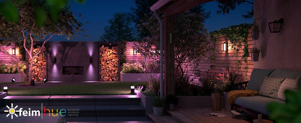 LED osvětlení v zahradě