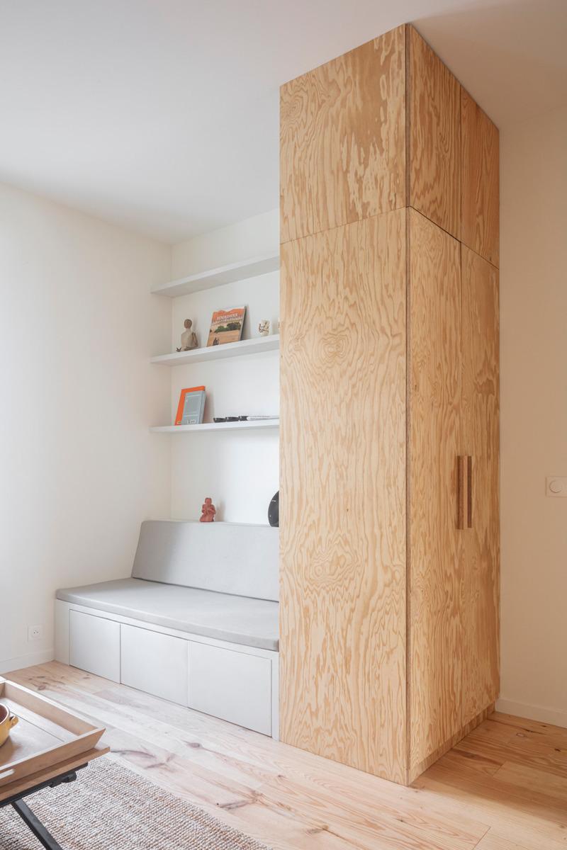 Interiér z borovicového dřeva