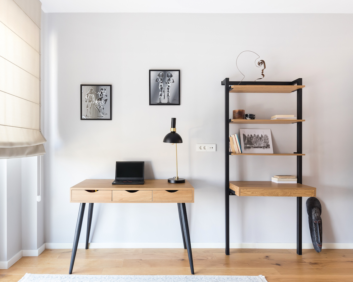 Pracovna s nábytkem na míru