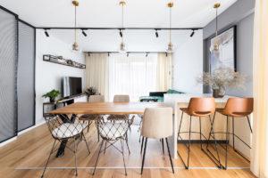 Jídelna a obývací pokoj