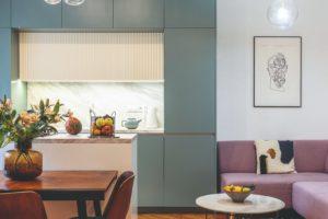 Obývací pokoj a kuchyň