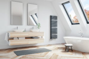 Radiátor v koupelně